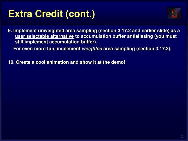 Extra Credit (cont.)