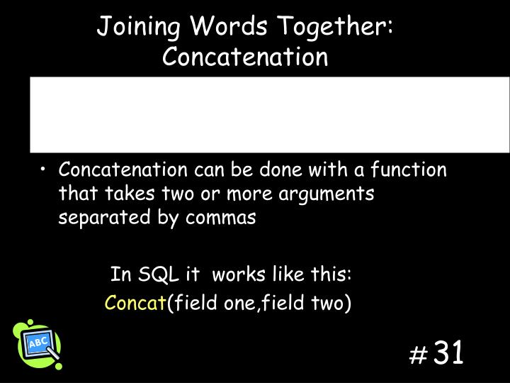 Joining Words Together: