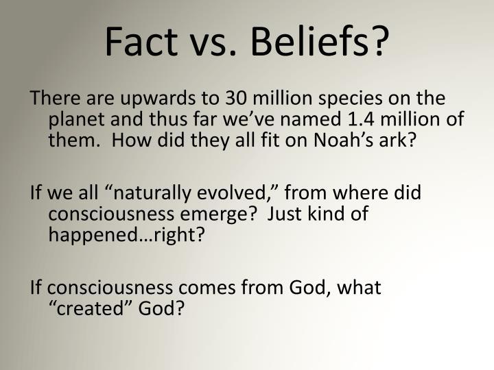 Fact vs. Beliefs?