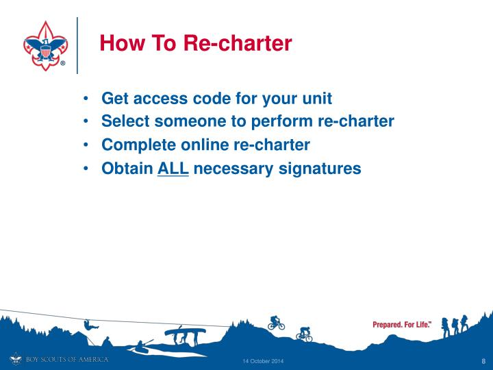 How To Re-charter