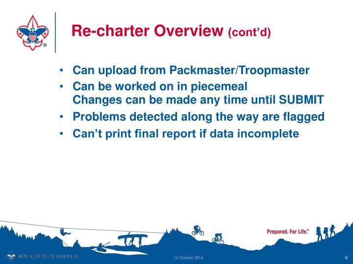 Re-charter Overview