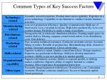 common types of key success factors