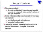resource similarity