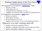 strategic implications of the five forces