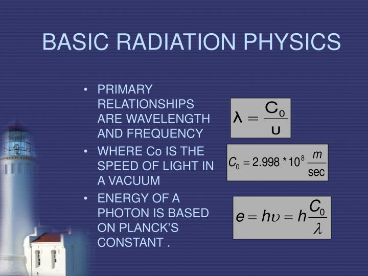 Basic radiation physics1
