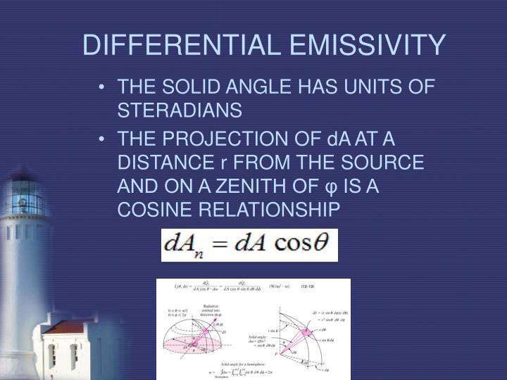 DIFFERENTIAL EMISSIVITY