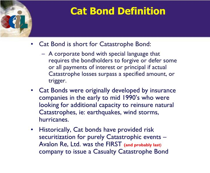 Cat Bond Definition
