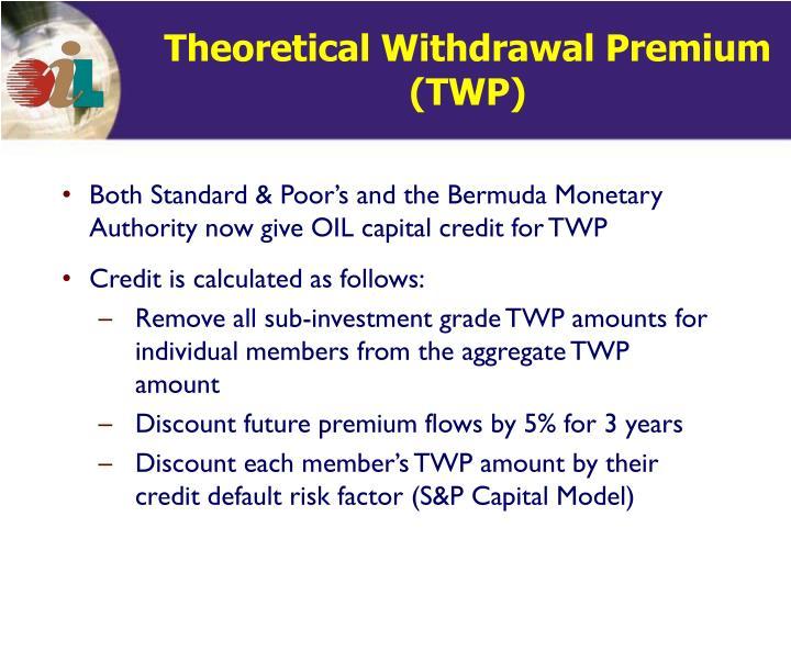 Theoretical Withdrawal Premium (TWP)