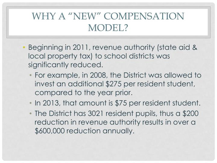 Why a new compensation model1