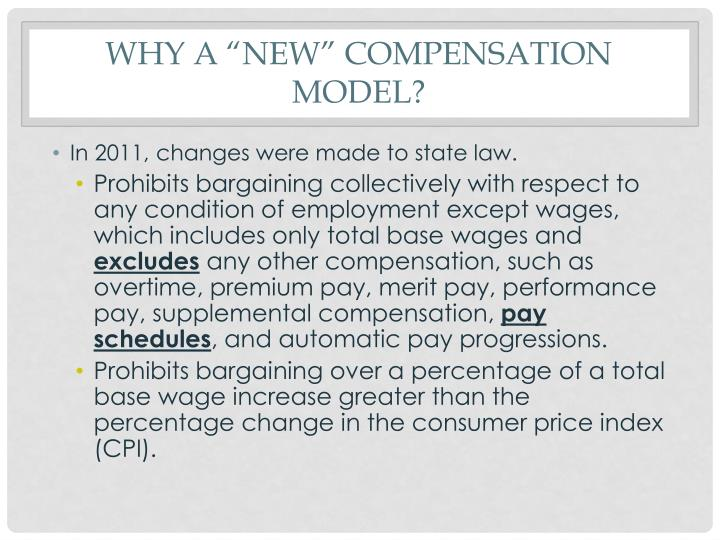 """Why a """"new"""" compensation model?"""