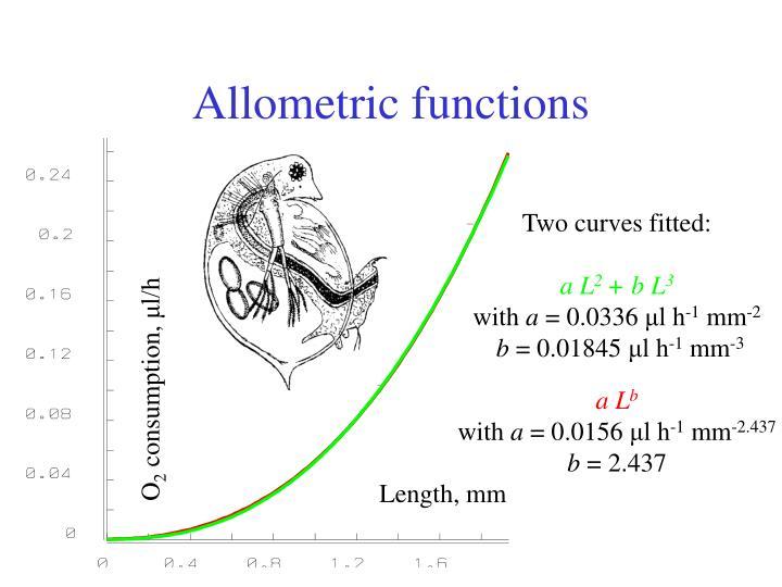 Allometric functions