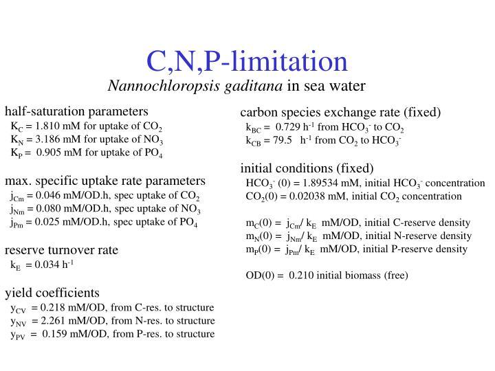 C,N,P-limitation