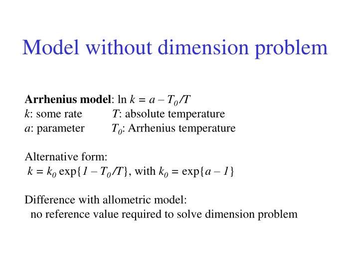 Model without dimension problem