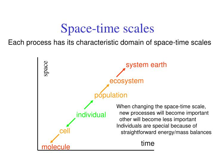 Space-time scales