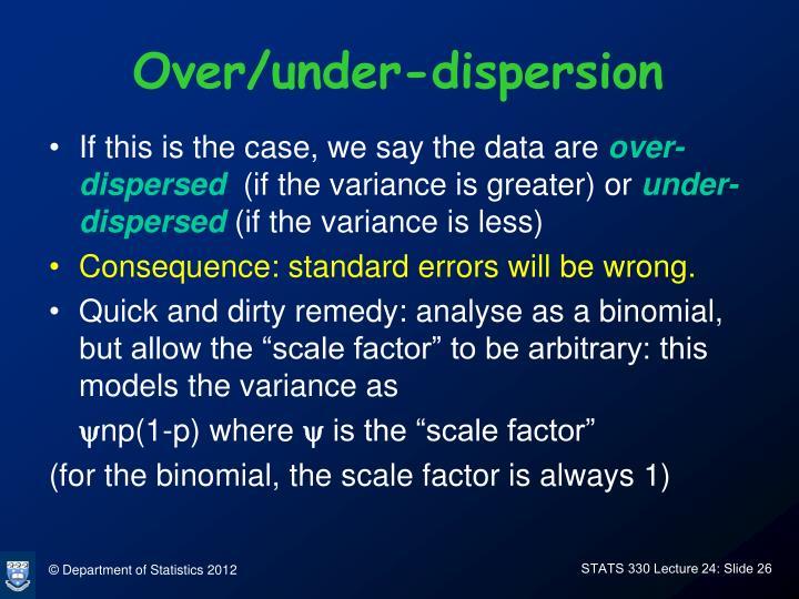 Over/under-dispersion