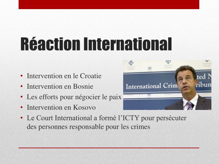 Intervention en le Croatie