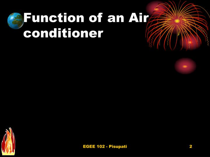 Function of an air conditioner