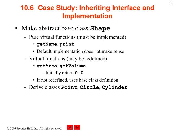 10.6  	Case Study: Inheriting Interface and Implementation
