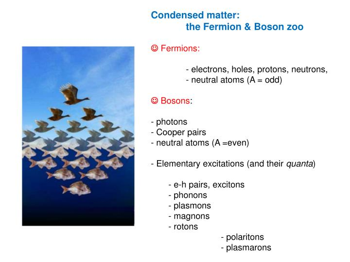 Condensed matter:
