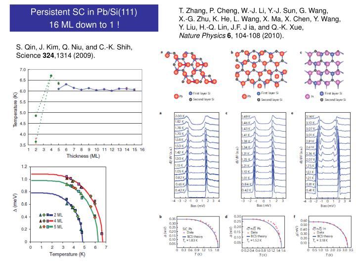 Persistent SC in Pb/Si(111)