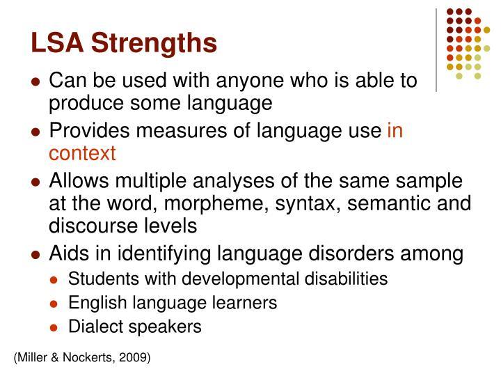 Lsa strengths