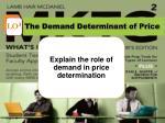 the demand determinant of price
