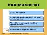 trends influencing price