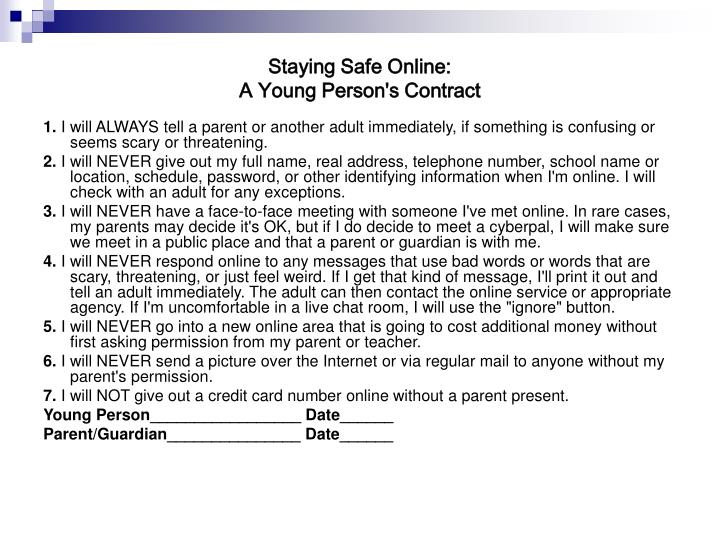 Staying Safe Online: