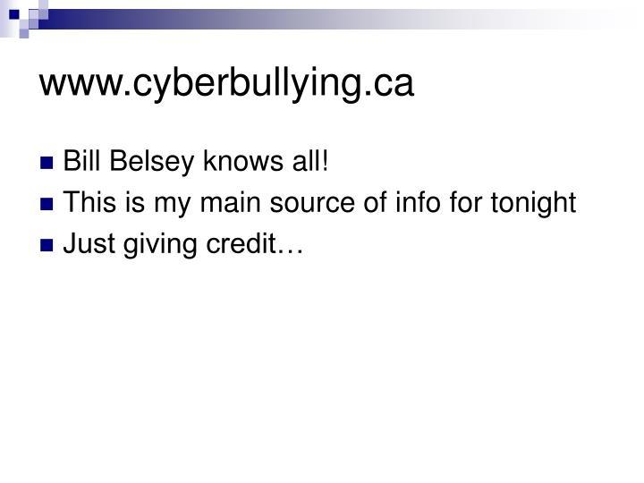 Www cyberbullying ca