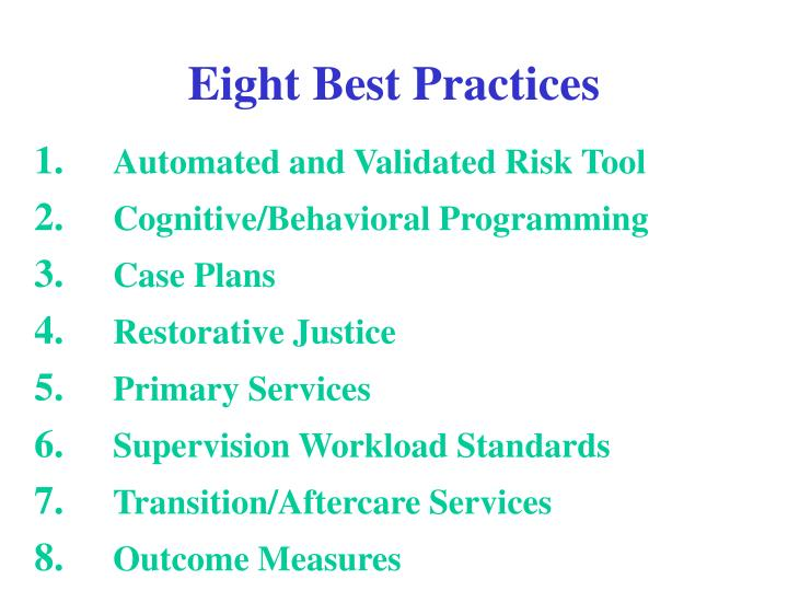 Eight Best Practices