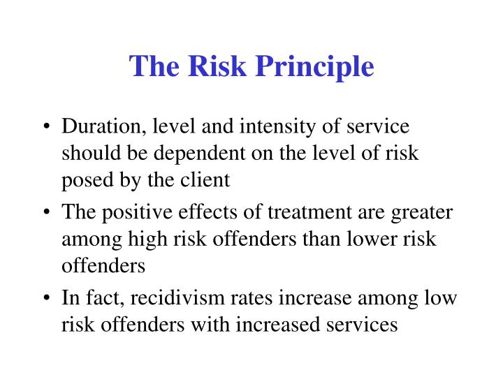 The Risk Principle