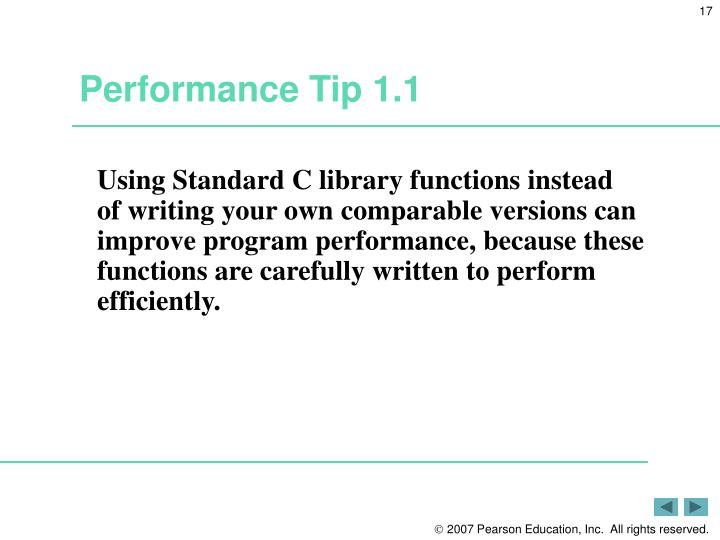 Performance Tip 1.1