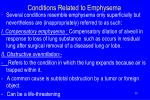 conditions related to emphysema