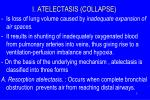 i atelectasis collapse