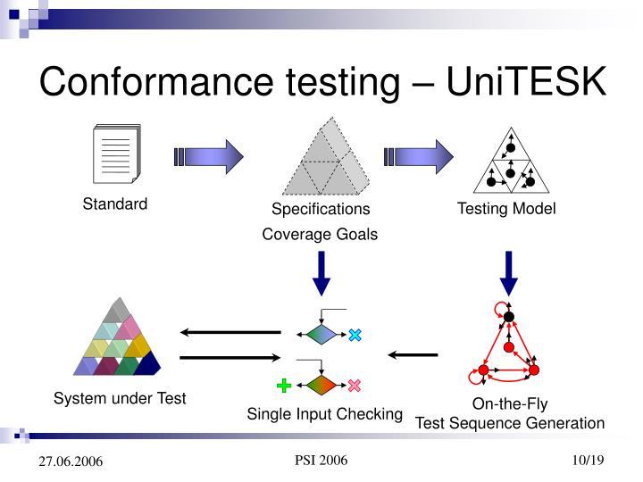 Conformance testing – UniTESK