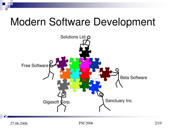 Modern software development