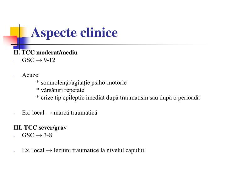 Aspecte clinice