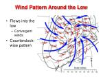 wind pattern around the low