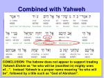 combined with yahweh1
