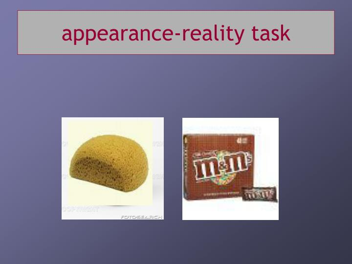 appearance-reality task