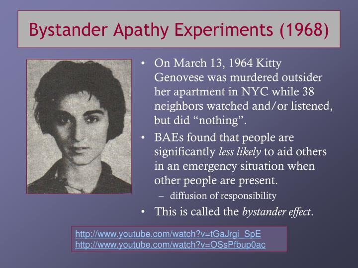 Bystander Apathy Experiments (1968)