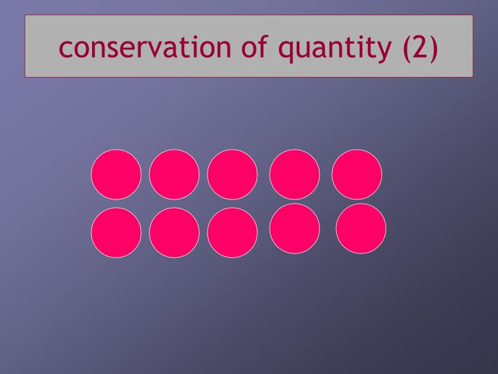 conservation of quantity (2)