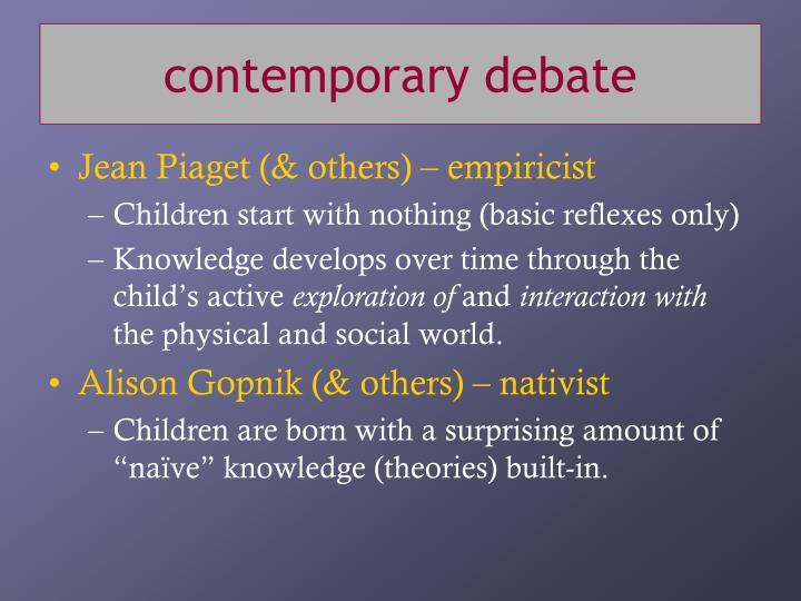 contemporary debate