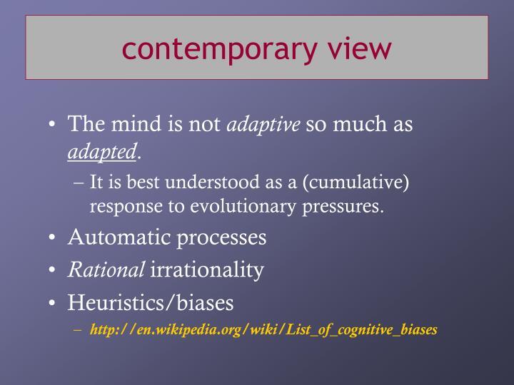 contemporary view
