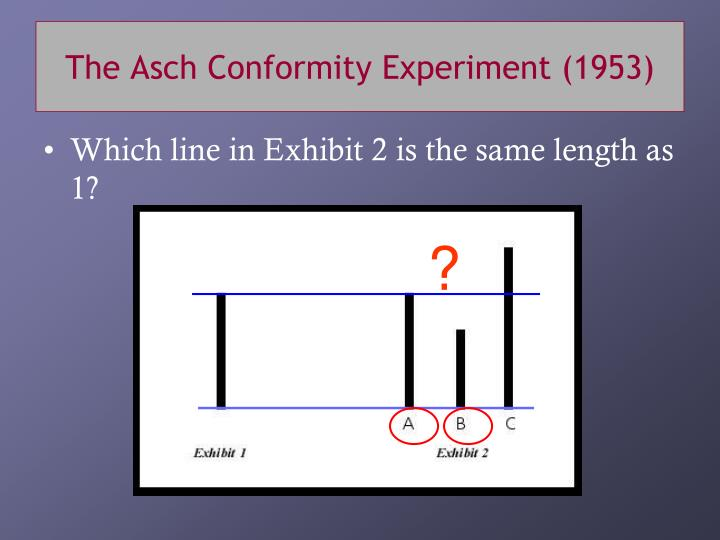 The Asch Conformity Experiment (1953)