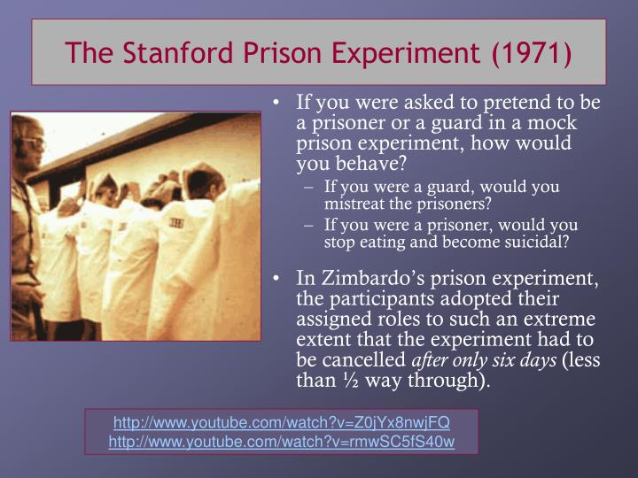 The Stanford Prison Experiment (1971)