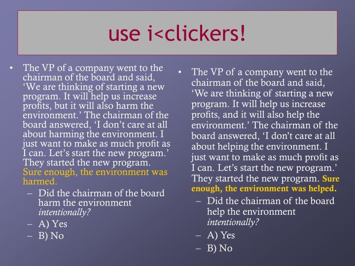 use i<clickers!