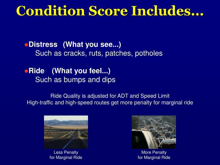 Condition Score Includes...