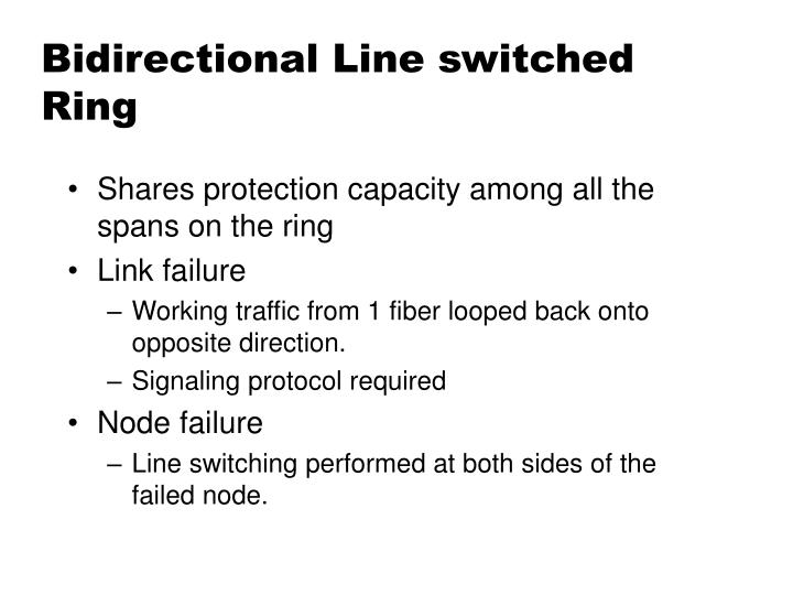 Bidirectional Line switched Ring