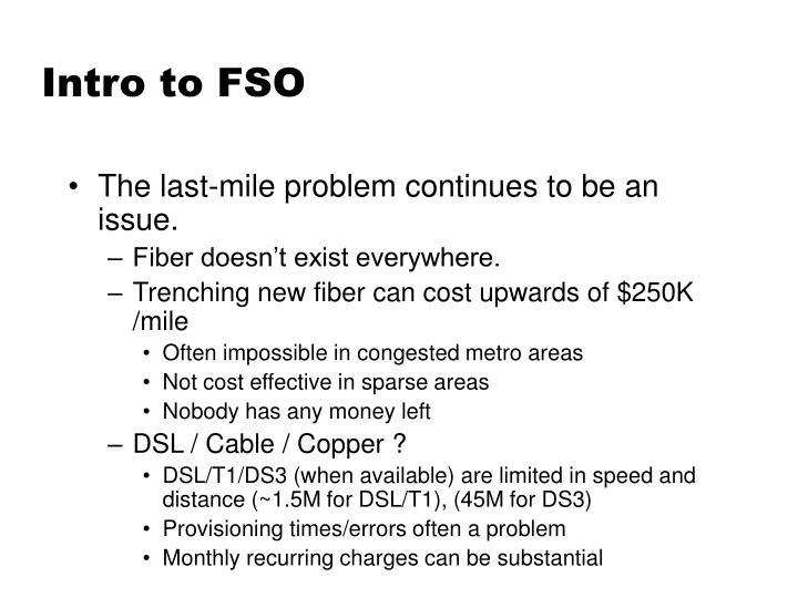 Intro to FSO